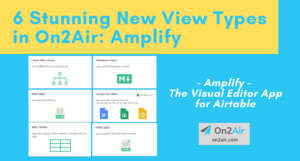 6 new view types - amplify - resource page
