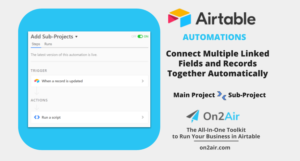 Automations - create linked project fields
