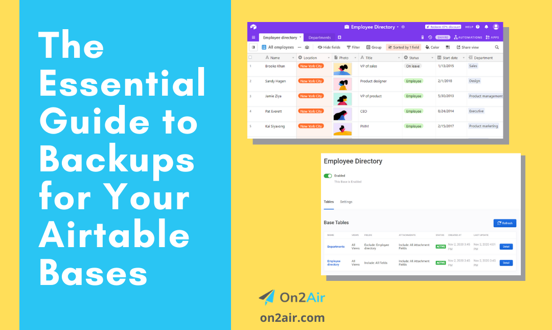 The Essential Guide to Backups for Your Airtable Bases