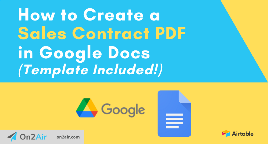 How to Create a Sales Contract PDF in Google Docs