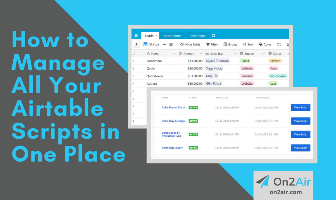 How to Manage All Your Airtable Scripts in One Place
