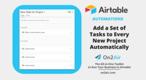 How to add project tasks automations main