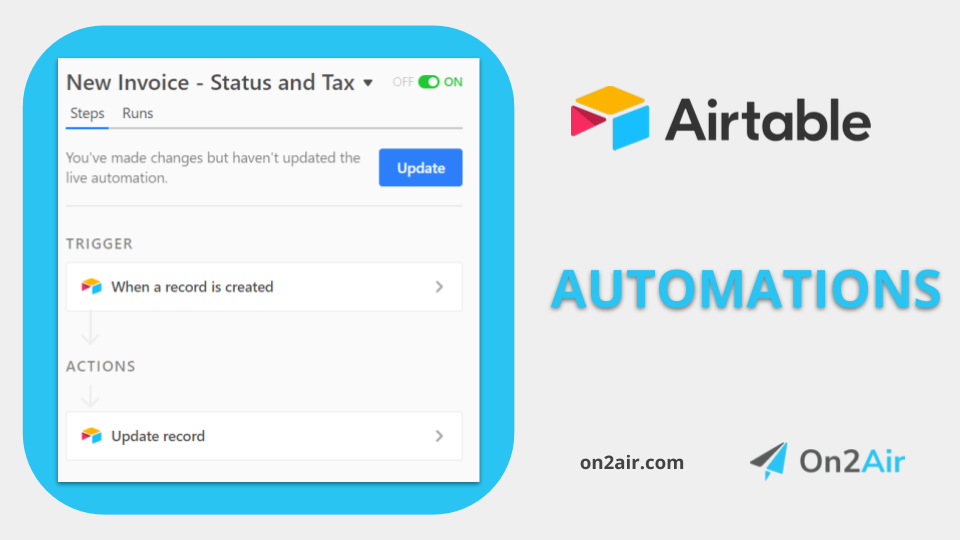 airtable automations - new invoice - first image