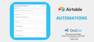 airtable automations - on2air new project task - first image