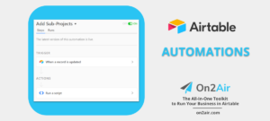 automations -on2air - add sub projects - script