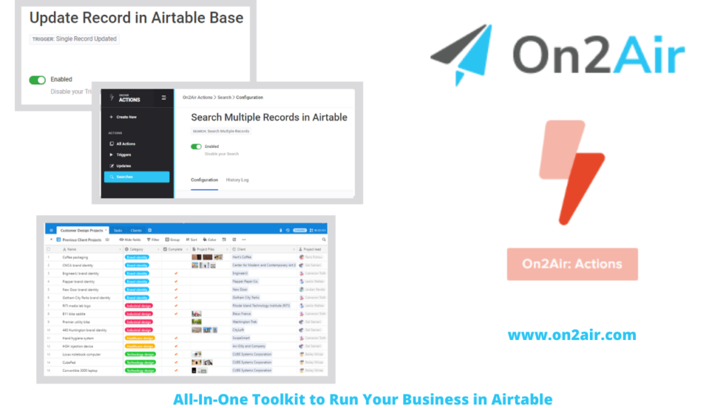 on2air_actions - All-In-One Toolkit to Run Your Business in Airtable