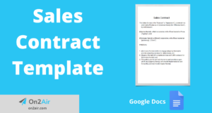 sales contract template featured