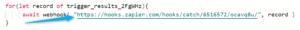 webhook URL in script