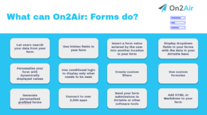 what can on2air forms do